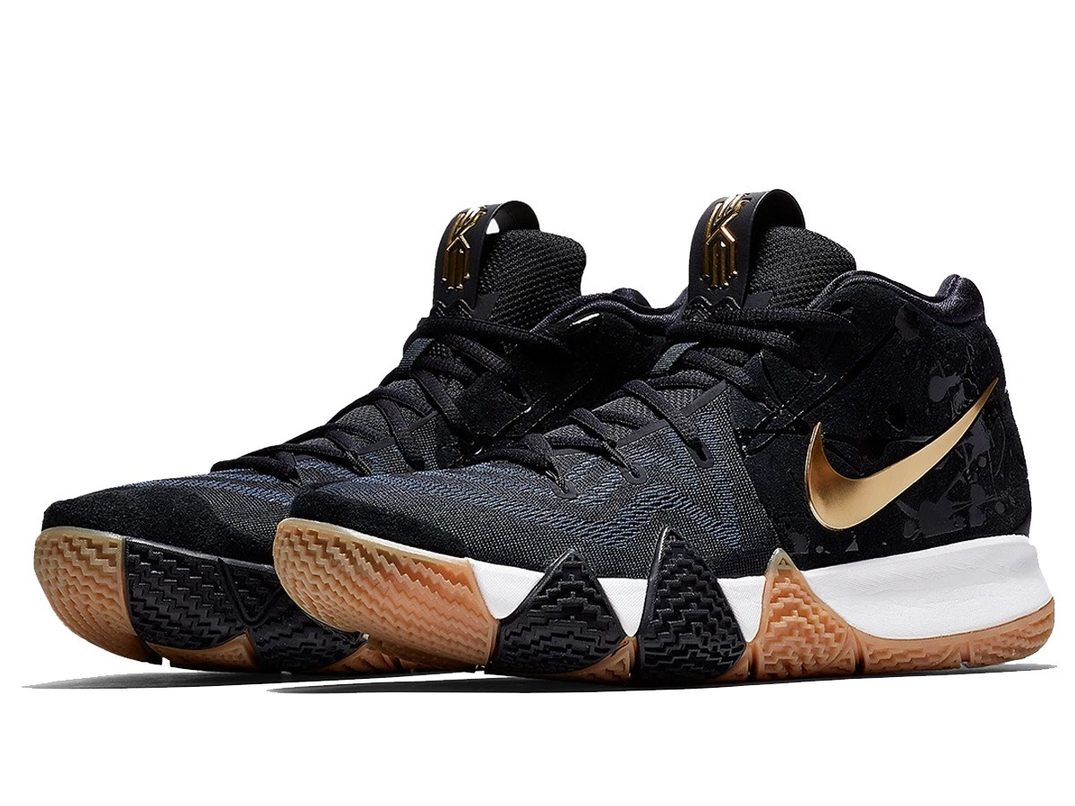 uk availability d30ed 2307a Tênis Nike Kyrie 4 Pitch Blue Metallic Gold Basketball