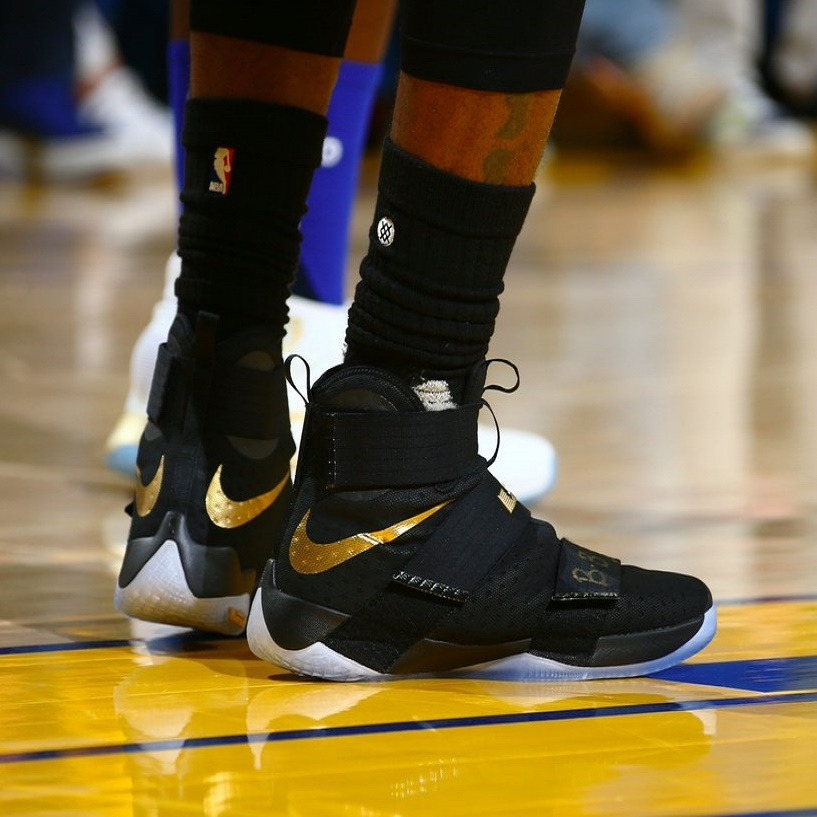 c3bb4ea06d86 Tênis Nike Lebron Soldier 10 Black Gold Finals Sfg Basquete - R  649 ...