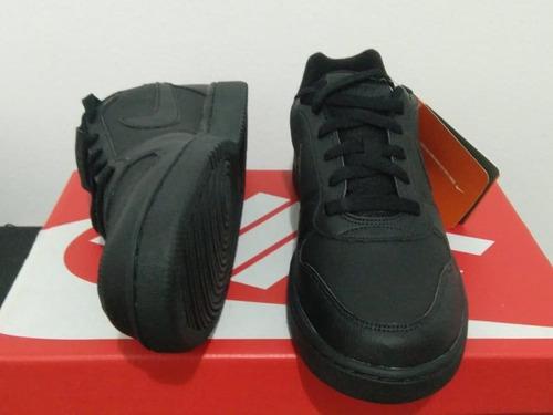 tênis nike masculino ebernon low preto cano baixo original!