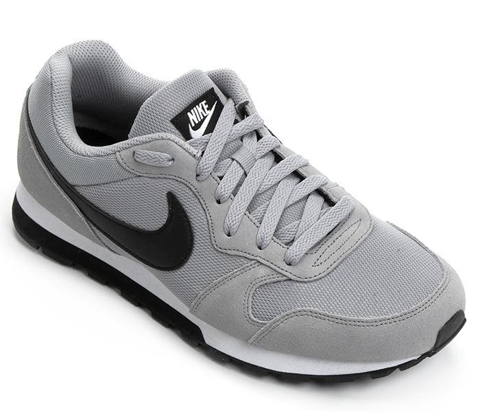 c12dd0e3afc5b Tênis Nike Md Runner 2 Couro Cinza- Tênis Original - R  359