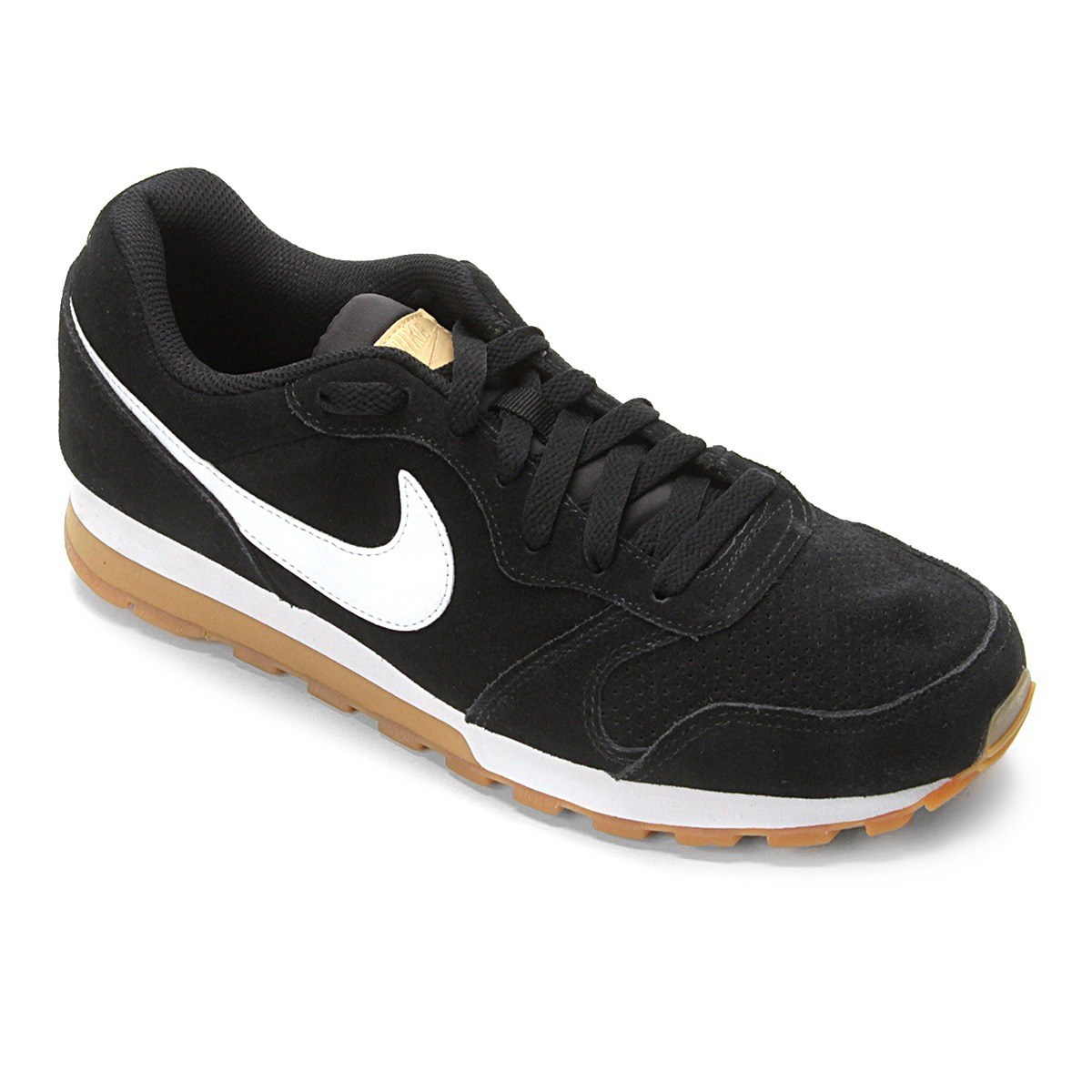 c00c65633 tênis nike md runner 2 suede masculino - preto e branco. Carregando zoom.