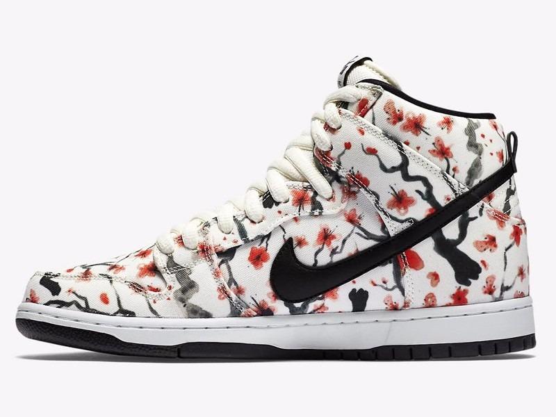 c107f485e45a tênis nike nike dunk high pro sb cherry blossom pack limited. Carregando  zoom.