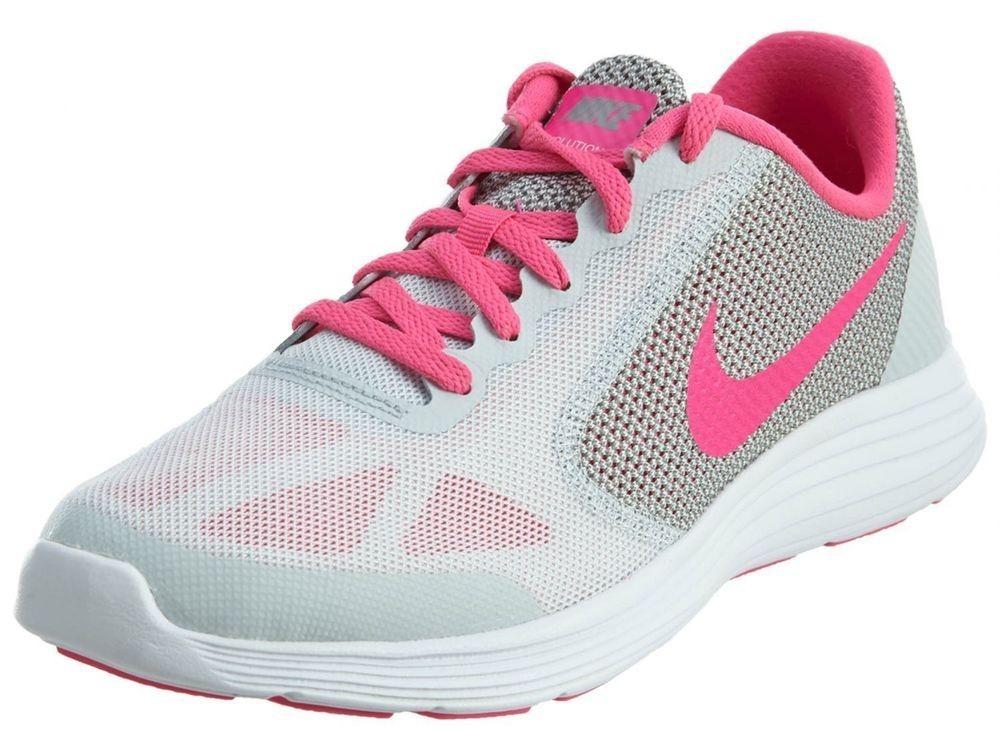tênis nike revolution 3 - feminino cinza rosa - original. Carregando zoom. d09b4fbce5e93
