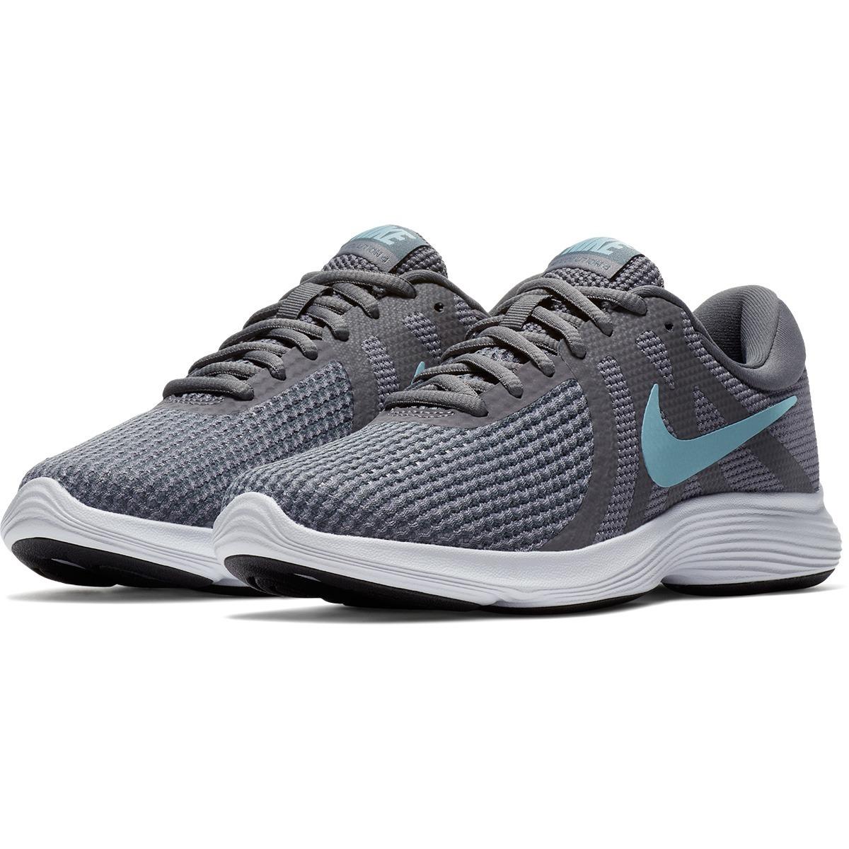tênis nike revolution 4 feminino original cinza e azul. Carregando zoom. 898d852aff4fb
