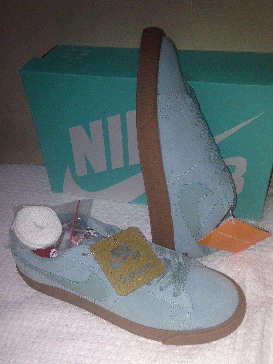 premium selection b6cb0 e5b59 Tênis Nike Sb Blazer Low Gt X Supreme Blue Nº41/9,5 Usa Novo