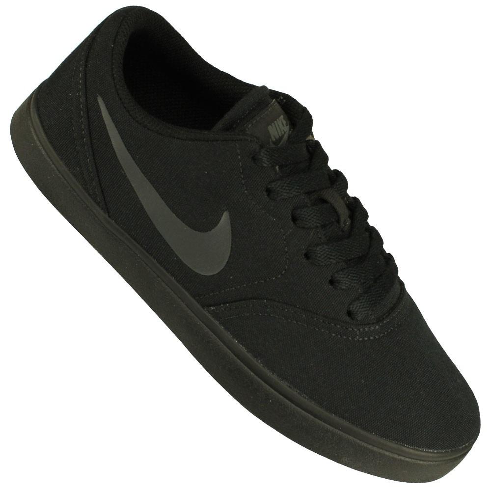 on sale 1c308 17fd4 tênis nike sb check canvas skateboarding nfe tênis preto. Carregando zoom.