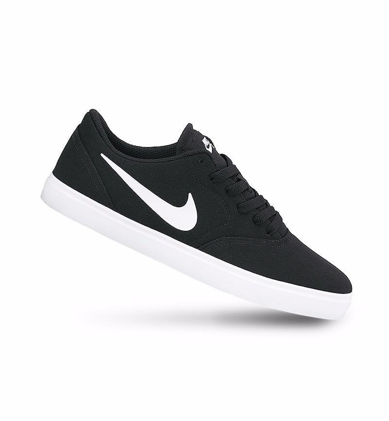 0a4aaaf0727 Tênis Nike Sb Check Masculino Preto E Branco Skate Original - R  269 ...