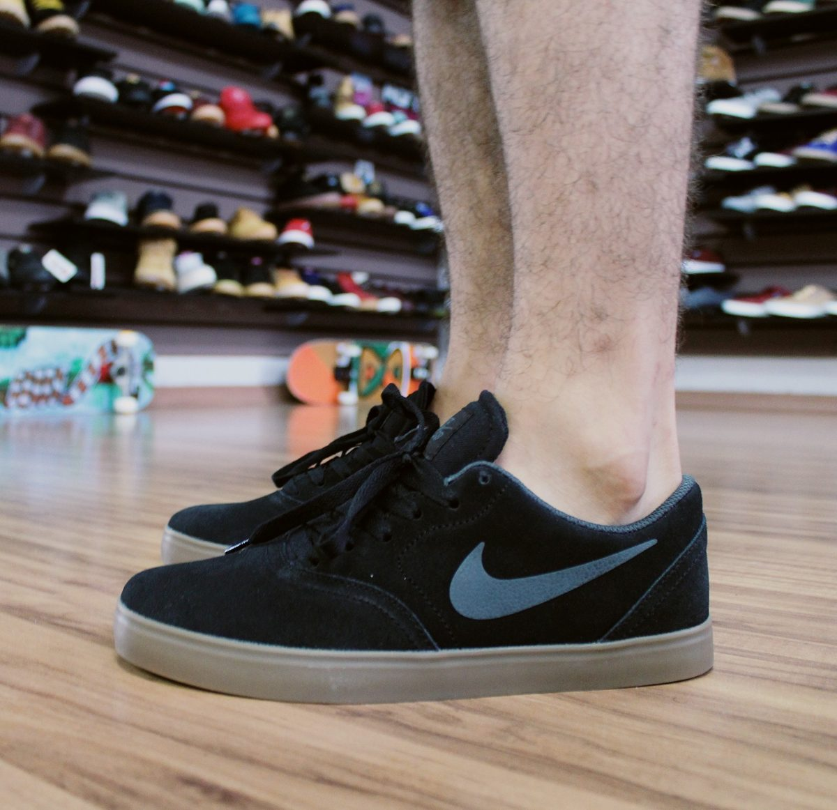 3990ce9df1 tênis nike sb check preto crepe original - willian radical. Carregando zoom.