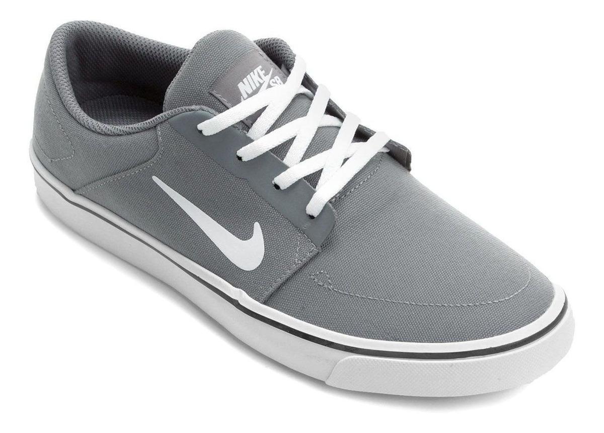 best service look for special sales Tênis Nike Sb Portmore Cinza E Branco