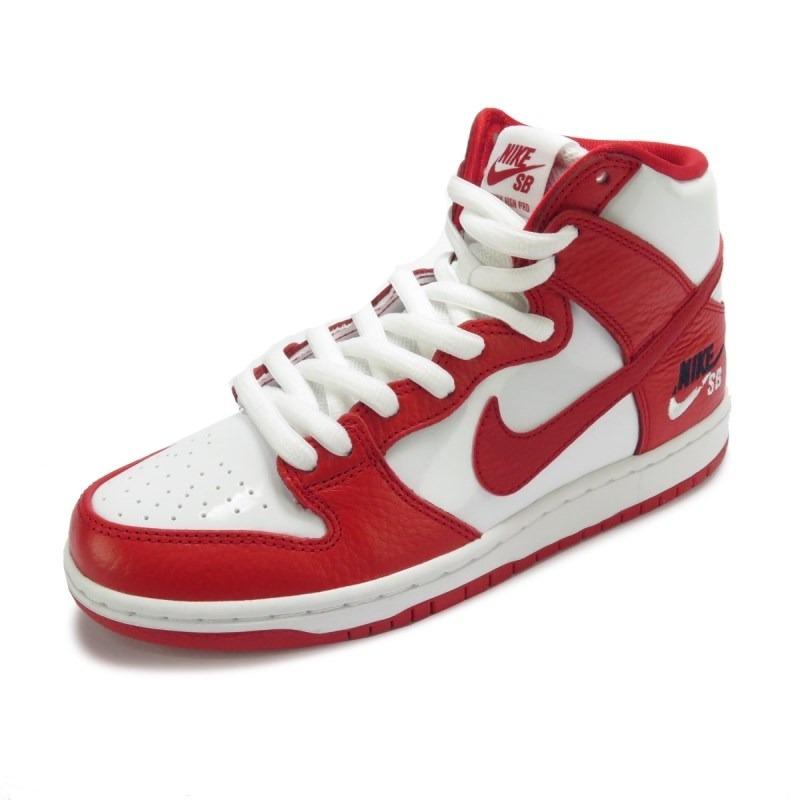 tênis nike sb zoom dunk high pro branco e vermelho. Carregando zoom. ebfa304f4fba2
