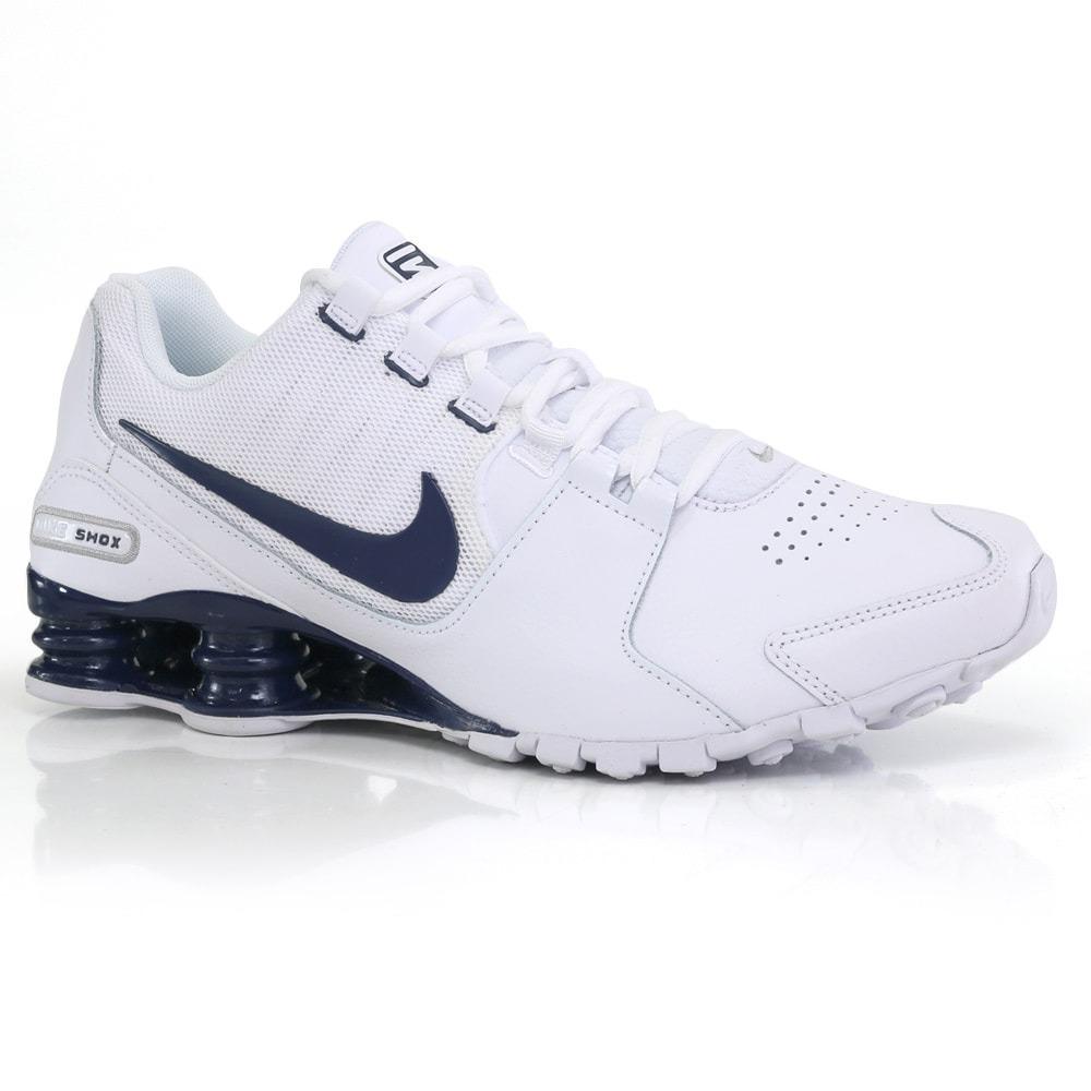 73cec982c90 tênis nike shox avenue ltr branco azul marinho way original. Carregando zoom .