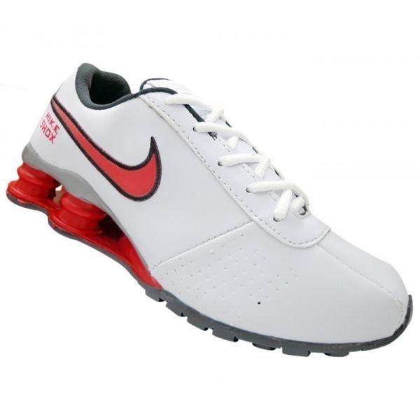 quality design 818dc bdb7c tênis nike shox classic branco e vermelho