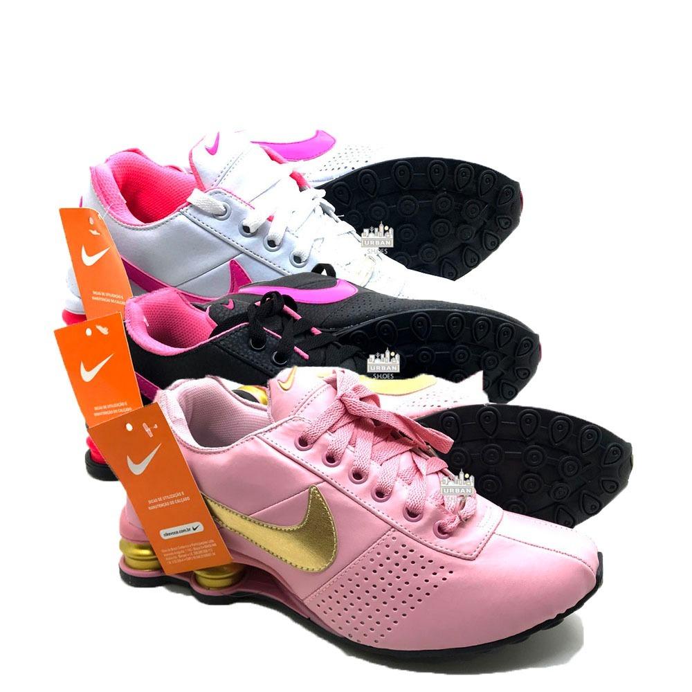 77b47822247 ... real tênis nike shox feminino deliver avenue 4 molas 3 pares. carregando  zoom. 0496b