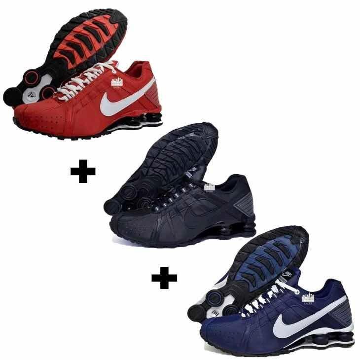 596ed6dfcdf Tênis Nike Shox Júnior Kit 3 - R  559