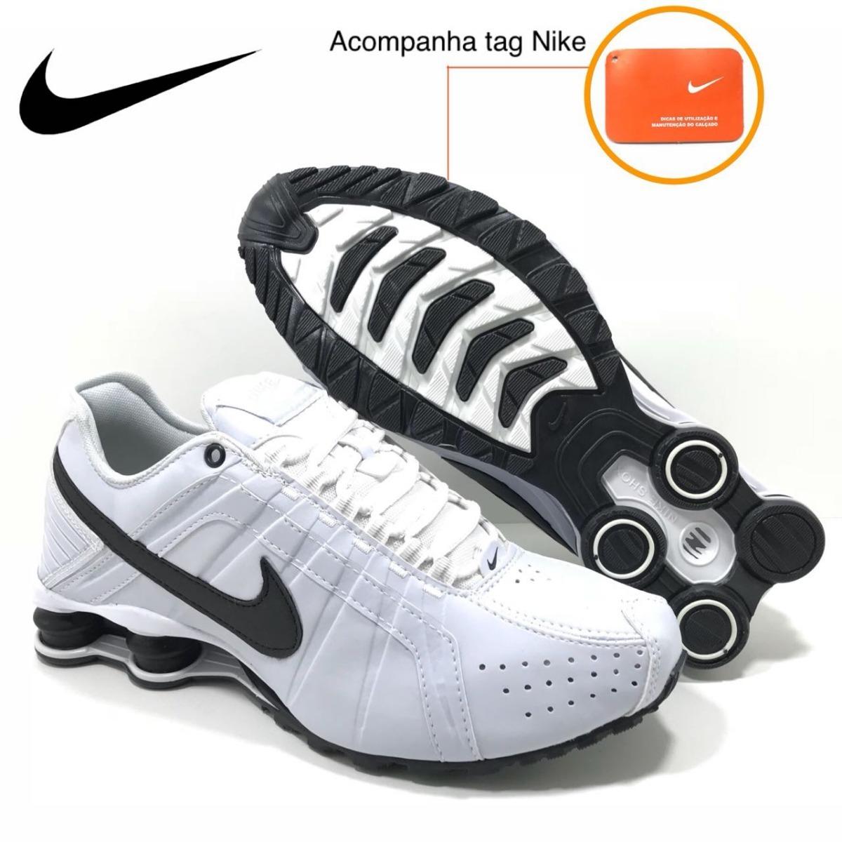 10edb883454 ... best price tênis nike shox junior masculino branco preto original. carregando  zoom. a3c5a 85541