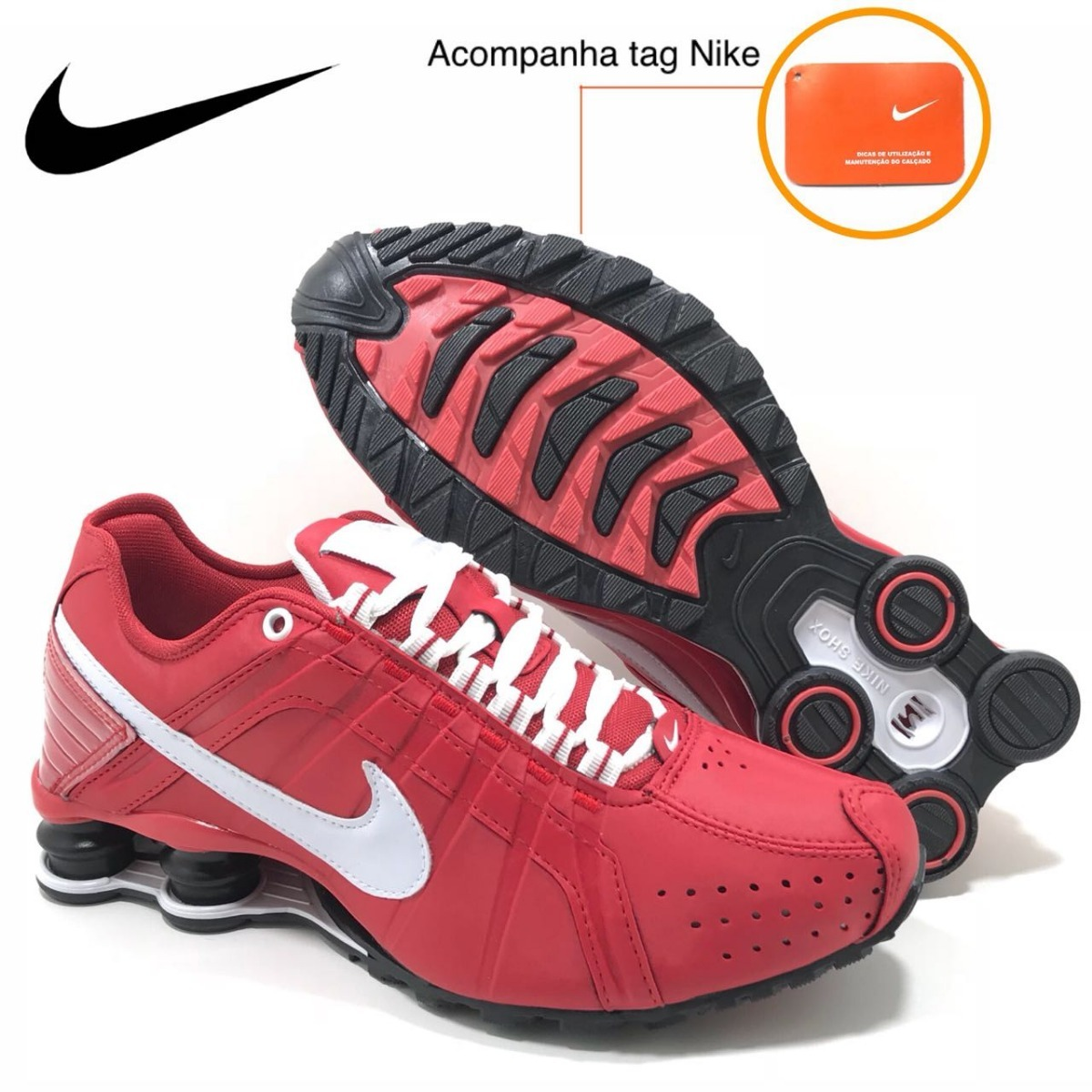 release date 7c182 30dfd ... discount tênis nike shox junior vermelho preto original. carregando  zoom. 66fdb 28021