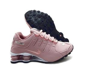 70c8c1b58f4 Tenis Nike Feminino Shox 4 Molas Rosa Com Preto - Tênis no Mercado ...