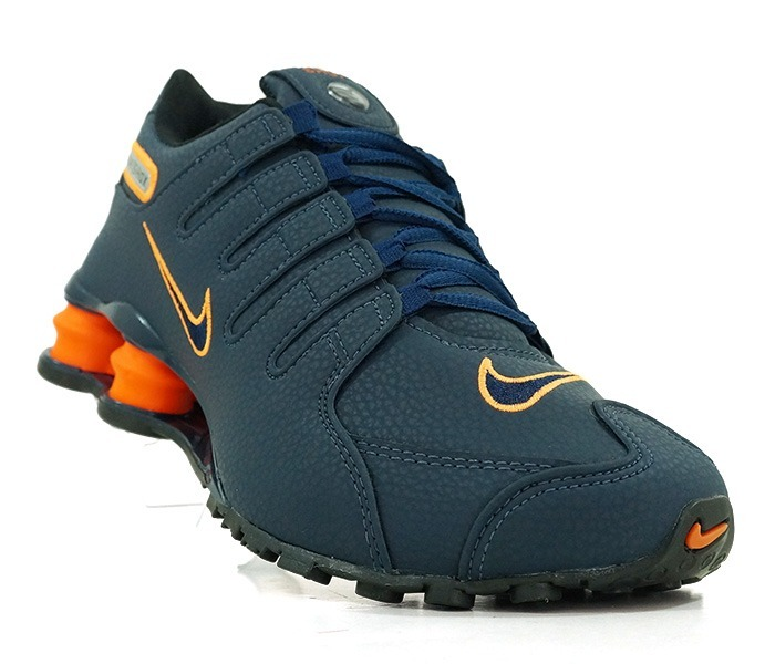 b694f02aad Tênis Nike Shox Nz Azul Marinho E Laranja - R  219
