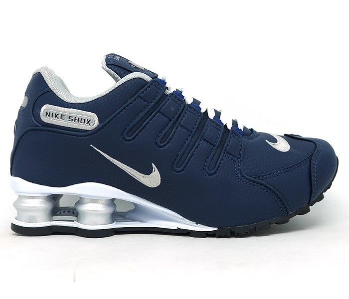 size 40 ce0f1 95e83 tênis nike shox nz azul marinho e prata