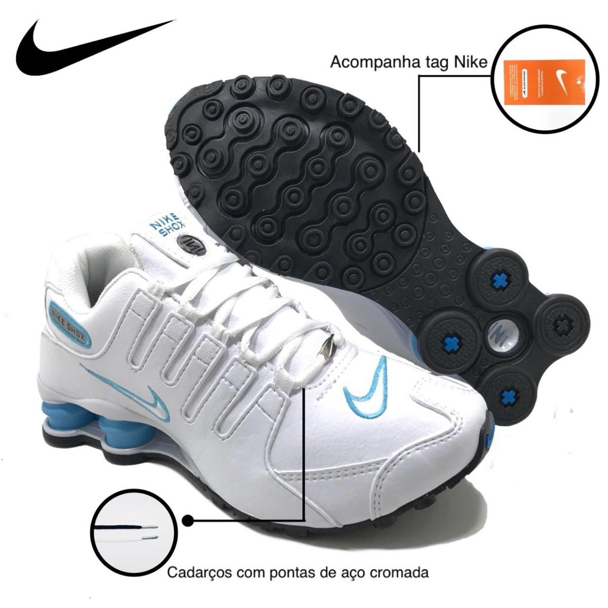 ... hot tênis nike shox nz feminino branco azul original. carregando zoom.  3b506 57bef 309c38c27b945