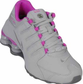 2670084aecb97 Tenis Nike Shox Prata E Lilas, Roxo Feminino Tamanho 36 .37 - Tênis ...