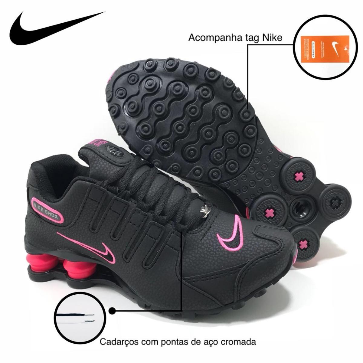 4f3bfbe3d60 ... netherlands tênis nike shox nz feminino preto pink original. carregando  zoom. 4e0a8 ab6fa