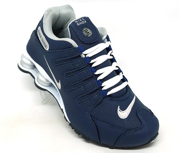 11fbf514a1 Tênis Nike Shox Nz Masculino Azul E Branco - R  400