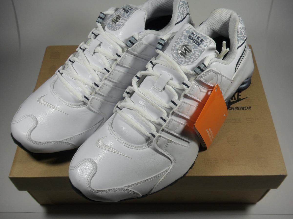 purchase cheap 73baa 78efa Tênis Nike Shox Nz Sl Couro Import. Oficial Branco & C A M O