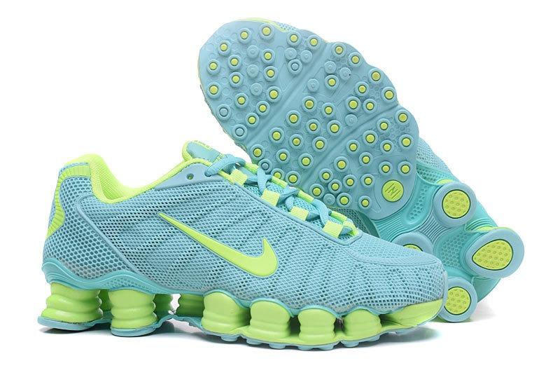 buy popular 11f14 402dc tênis nike shox tlx 12 azul e verde feminino - frete grátis. Carregando zoom .