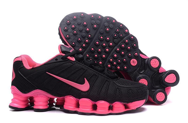 half off 50b3b ee59d ... tênis nike shox tlx 12 preto e rosa feminino - frete grátis.
