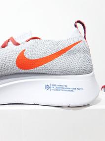 ec10eef86b8 Tênis Nike Zoom Fly Flyknit Corrida Original Branco N. 39