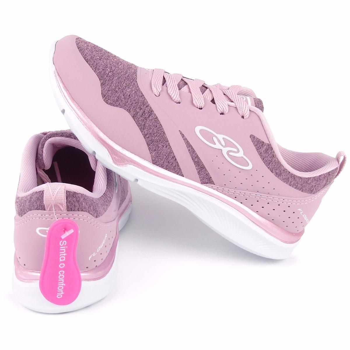 ad8a24d3df7 tênis olympikus feminino corrida flower rosa original. Carregando zoom.
