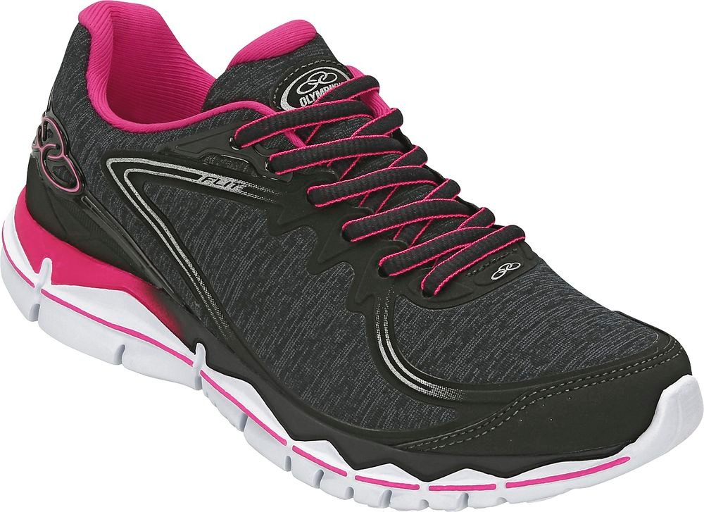 47cd8486a1 tênis olympikus flit - feminino - preto rosa. Carregando zoom.