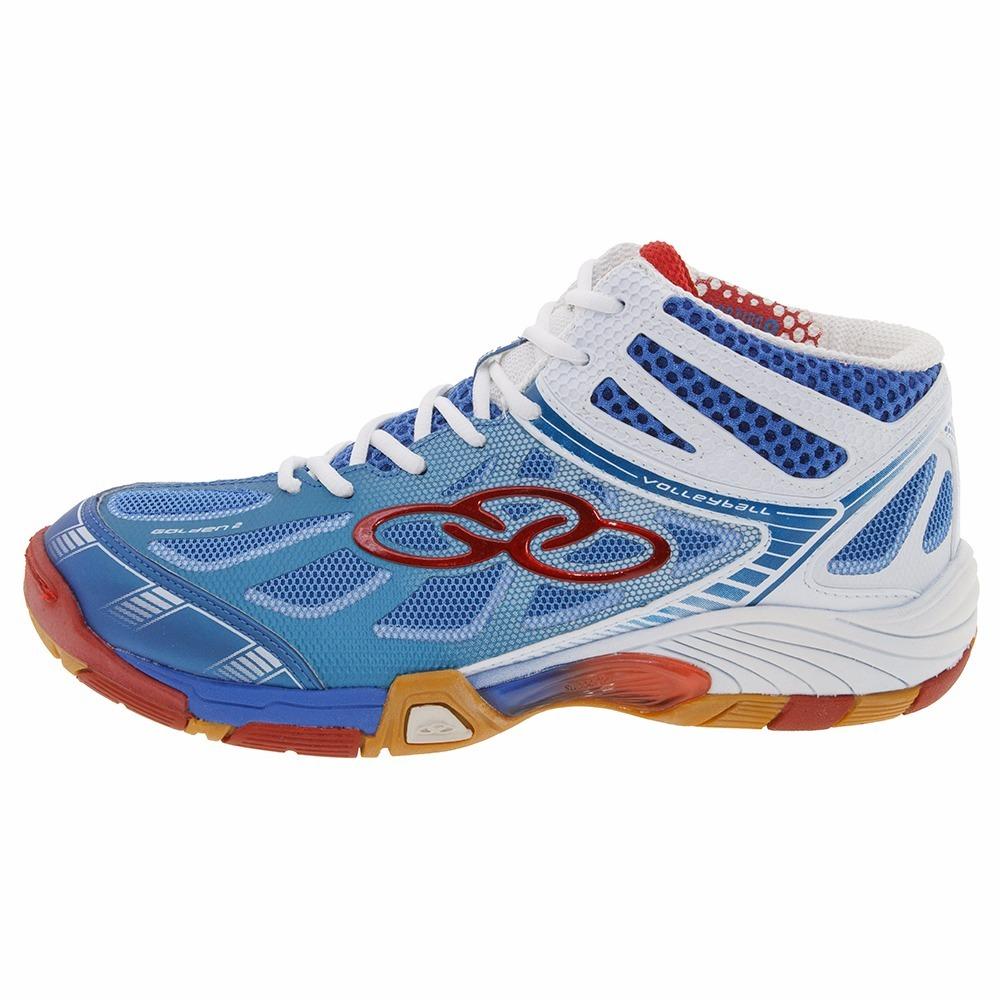 3ecc3789a3feb tênis olympikus golden 2 azul e branco vôlei cano alto. Carregando zoom.