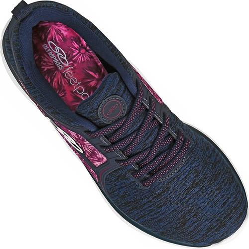 tênis olympikus pretty/551 palmilha feetpad confortável