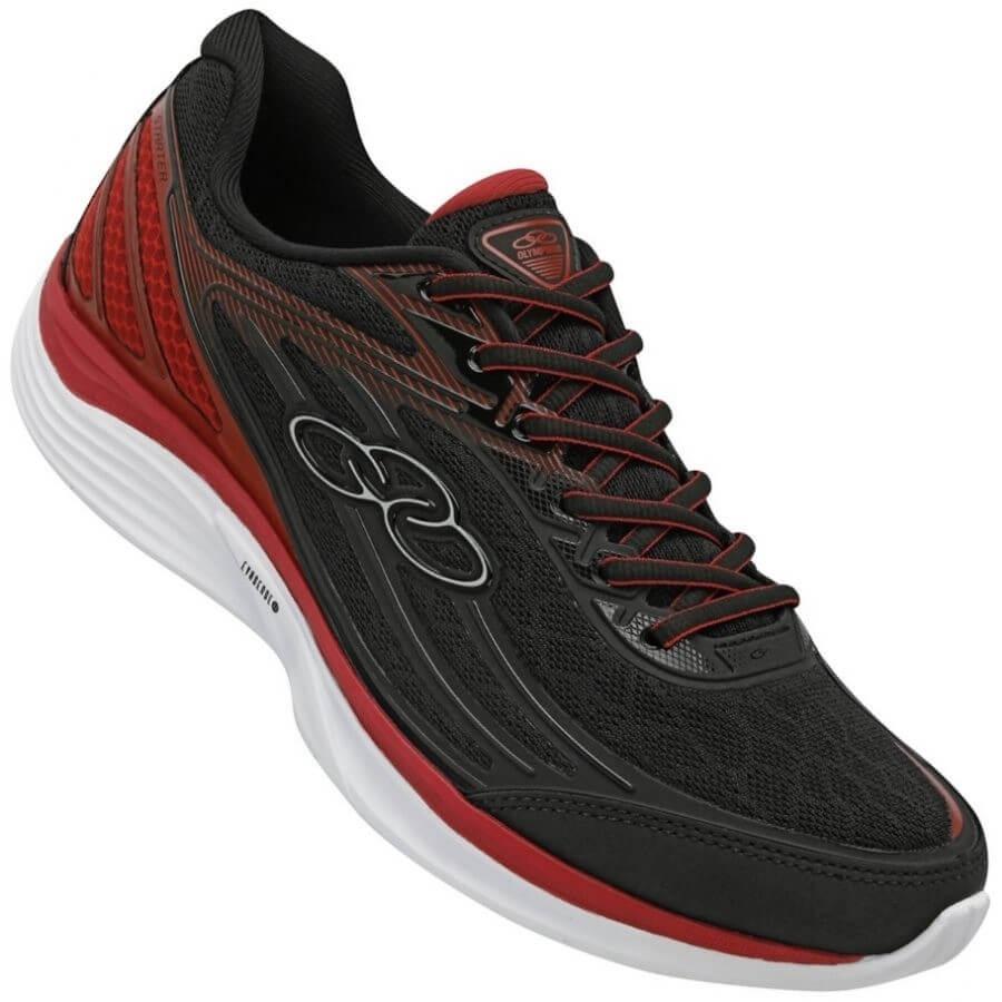 add50b985b3 tênis olympikus starter - preto e vermelho. Carregando zoom.