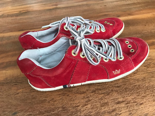 tênis osklen vermelho - tam. 35