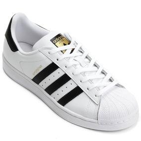 4e788aa8931 Tênis Branco - Preto Superstar Original adidas 34 43 + Caixa