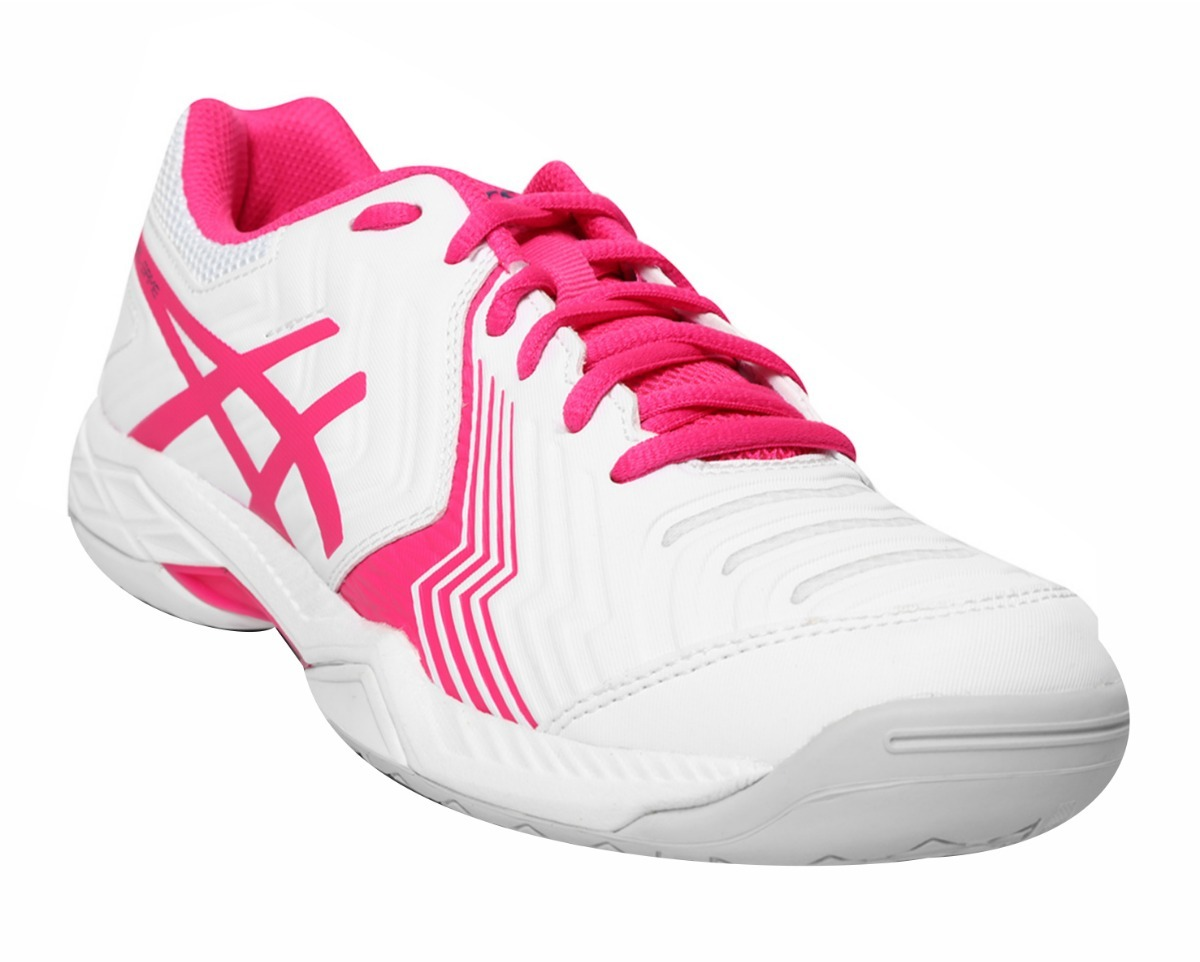 03e565bd8df Tênis Para Jogar Tênis Asics Gel-game 6 Branco E Rosa - R  399