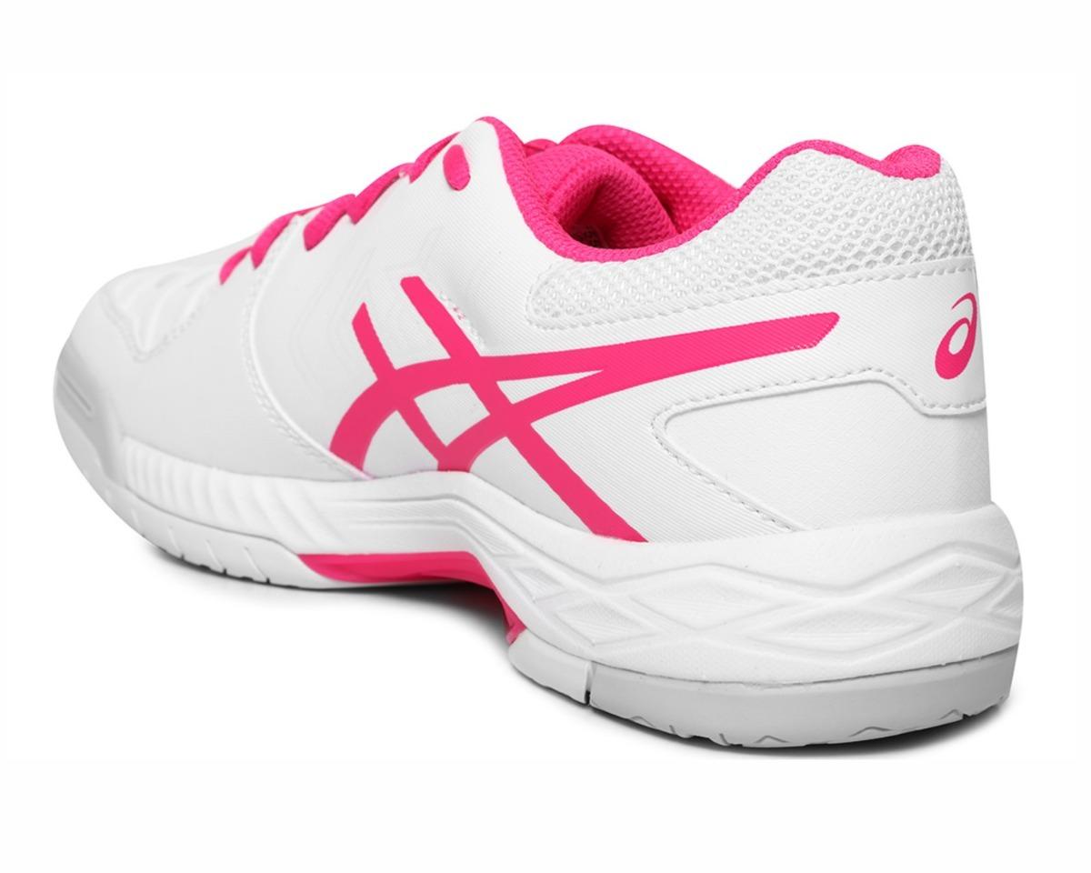 5b918c0613 tênis para jogar tênis asics gel-game 6 branco e rosa. Carregando zoom.