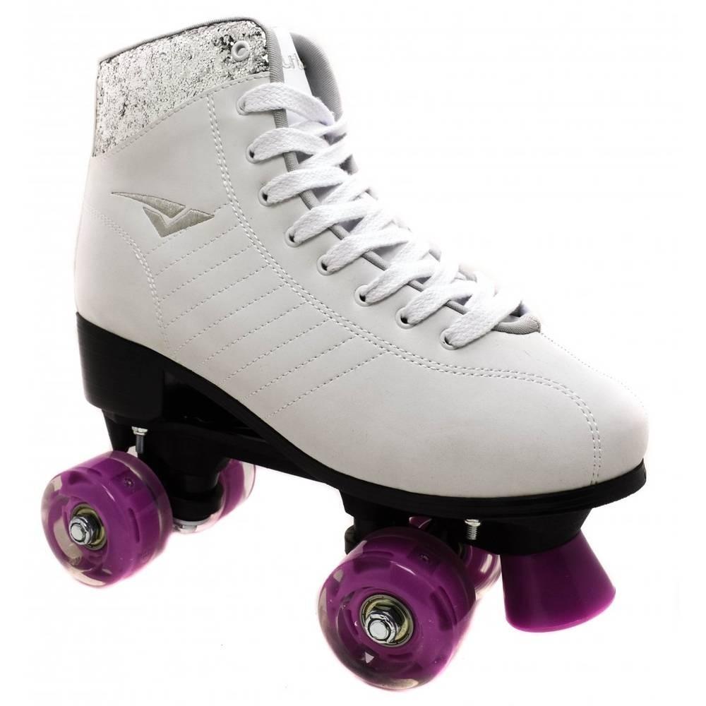 09dd92f4498 tênis patins rodinha infantil bout s skid led branco. Carregando zoom.