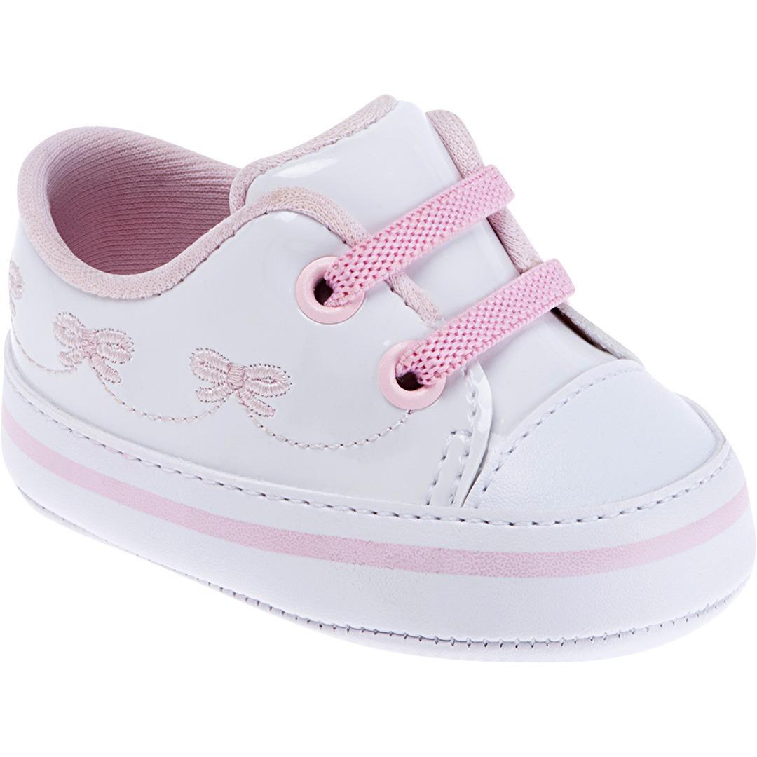 234637cee4 tênis pimpolho bebê menina branco e rosa. Carregando zoom.