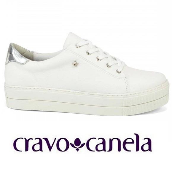 Tênis Plafaforma Cravo   Canela Branco 148901 - R  169 1360d2aa8e20d