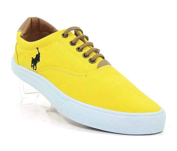 Tênis Polo Ralph Lauren Vaugh Amarelo - R  78 c2961f182af
