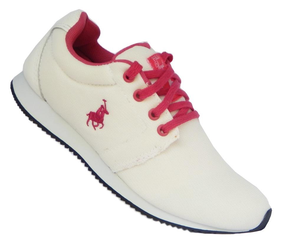 b6105b9c3 tênis polo royal jogging - branco com rosa original. Carregando zoom.