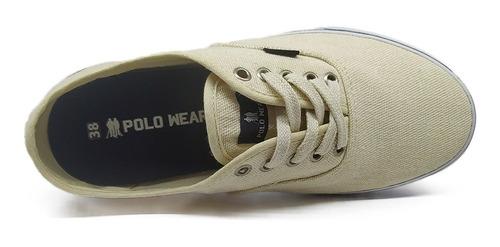 tênis polo wear original ad street lona sola borracha oferta