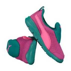 49fdd87440f Tênis Puma Bao 3 Mesh Infantil Feminino Rosa E Verde