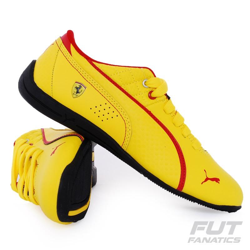 05556005f5f tênis puma drift cat 6 l scuderia ferrari amarelo. Carregando zoom.