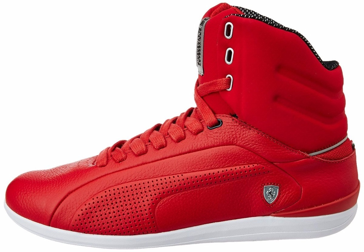 0fc7610fc tênis puma ferrari mid - sneaker original cano alto couro. Carregando zoom.