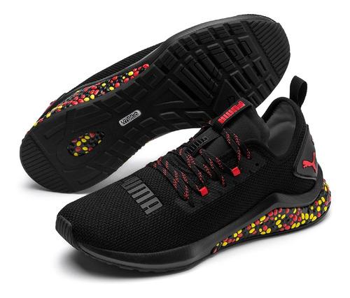 tênis puma hybrid nx masculino - preto e vermelho - 39